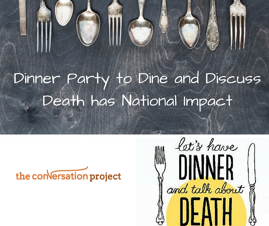 Death over dinner postcard