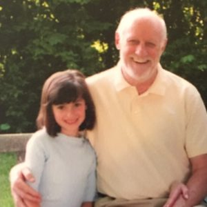 Author as a young girl with her grandfather